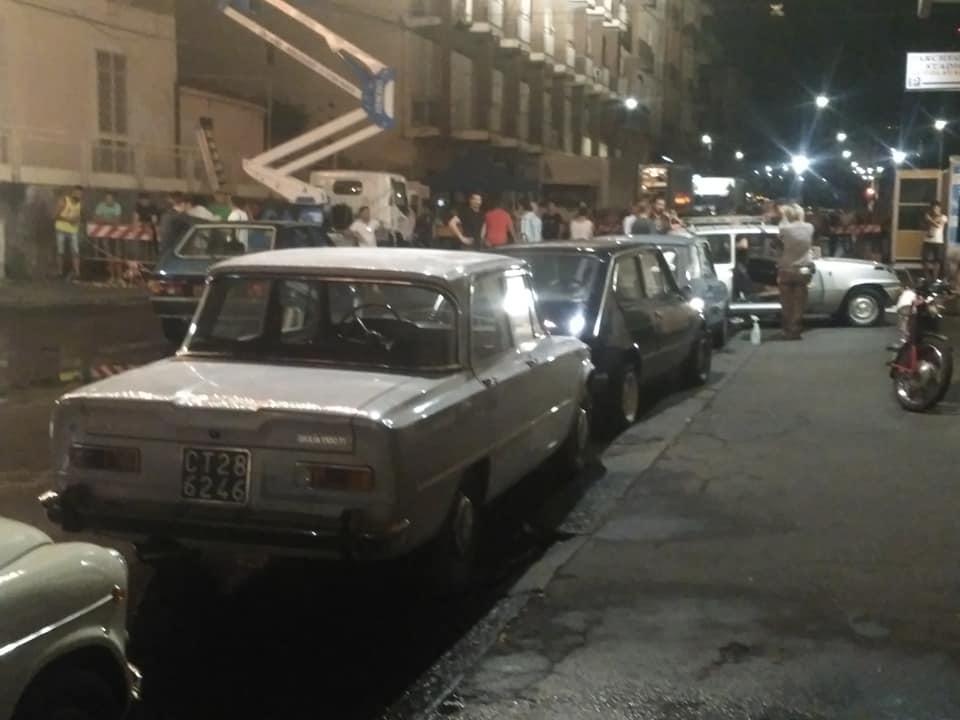 Riprese cinematografiche Catania auto storiche