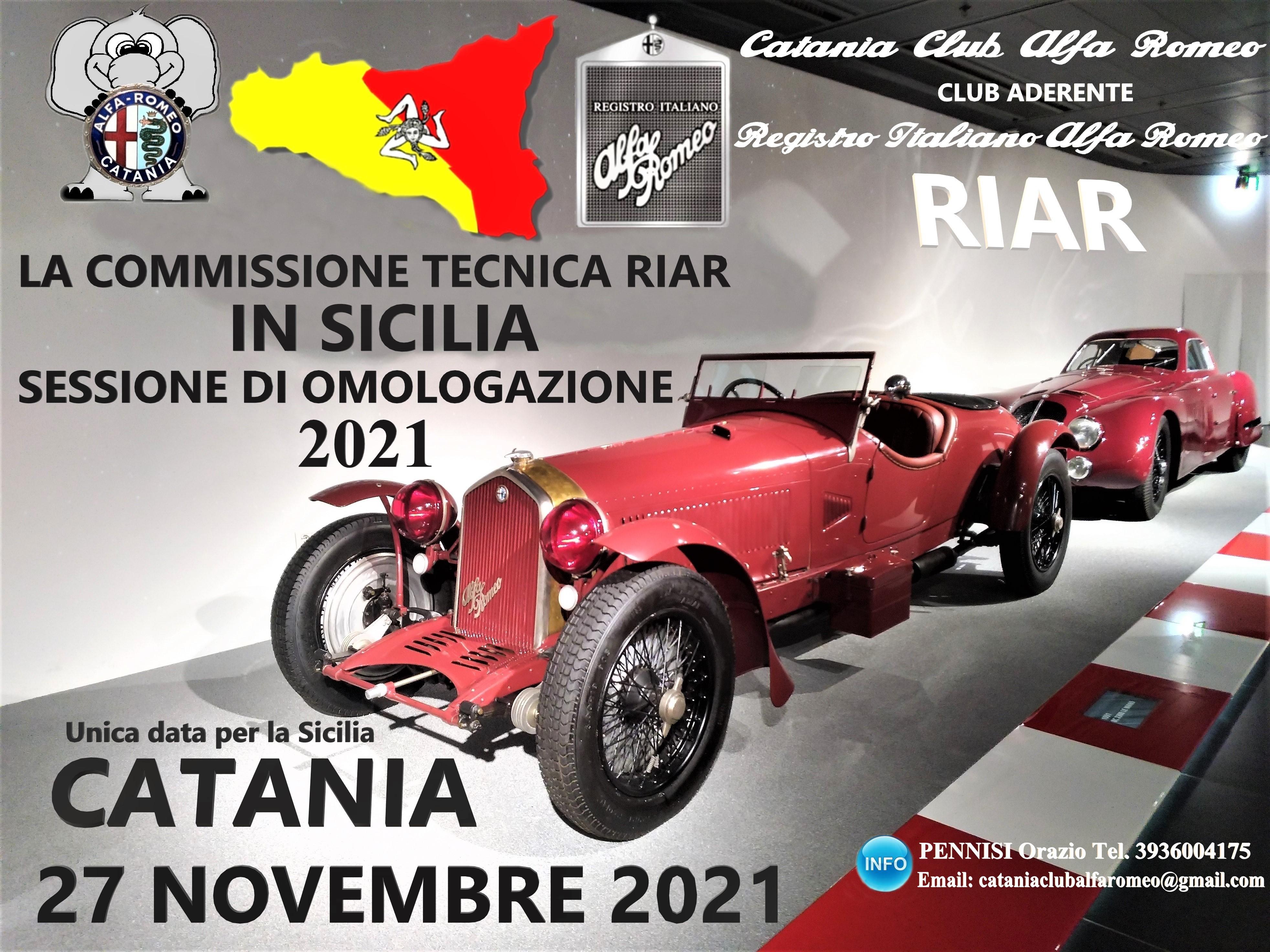 Sessione Omologazione RIAR Sicilia